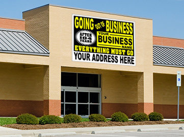 Going out of Business Sign presign sign